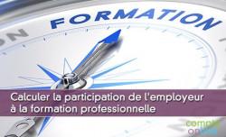 Calculer la participation de l'employeur à la formation professionnelle