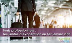 Frais professionnels : les limites d'exonération au 1er janvier 2021