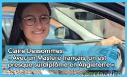 Claire Dessommes « Avec un master français, on est presque surdiplômé en Angleterre »