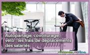 Autopartage, covoiturage, vélo : les frais de déplacements des salariés