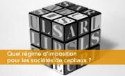 Régime d'imposition des sociétés de capitaux