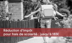 Réduction d'impôt pour frais de scolarité : jusqu'à 183 Euros