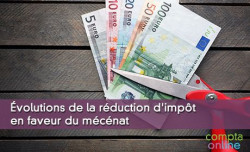 Évolutions de la réduction d'impôt en faveur du mécénat
