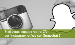 Il est possible de chercher un emploi sur Instagram et Snapchat