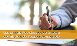 Les principales clauses de la lettre de mission