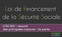 LFSS 2021 : résumé des principales mesures - 2e partie