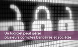 Un logiciel peut gérer plusieurs comptes bancaires et sociétés