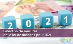 Sélection de mesures de la loi de finances pour 2021