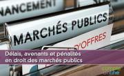 Délais, avenants et pénalités en droit des marchés publics