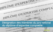 Désignation des membres du jury national du diplôme d'expertise comptable