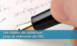 Les règles de rédaction pour le mémoire du DEC