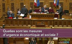 Quelles sont les mesures d'urgence économique et sociale ?