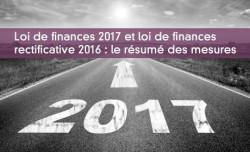 Loi de finances 2017 et loi de finances rectificative 2016