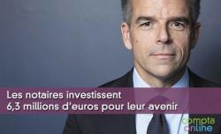 Les notaires investissent 6,3 millions d'euros pour leur avenir