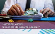 Vérifier le numéro de sécurité sociale