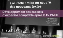 Développement des cabinets d'expertise comptable après la loi PACTE