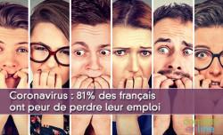 Coronavirus : 81% des français ont peur de perdre leur emploi