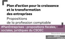 #PlanEntreprises : propositions fiscales, sociales, juridiques du CSOEC
