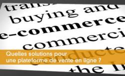 Quelles solutions pour une plateforme de vente en ligne ?