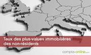 Taux des plus-values immobilières des non-résidents
