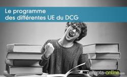 Le programme des différentes UE du DCG