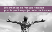 Les annonces de François Hollande pour le prochain projet de loi de finances