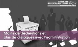 Moins de déclarations et plus de dialogues avec l'administration