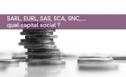 SARL, EURL, SAS, SCA, SNC,... quel capital social ?