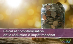 Calcul et comptabilisation de la réduction d'impôt mécénat
