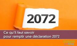 Ce qu'il faut savoir pour remplir une déclaration 2072