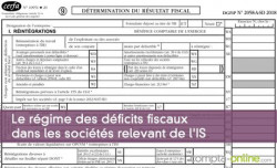 Le régime des déficits fiscaux dans les sociétés relevant de l'IS