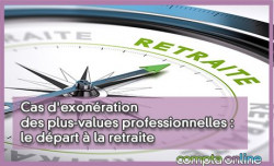Cas d'exonération des plus-values professionnelles : le départ à la retraite