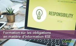 Formation sur les obligations en matière d'information RSE