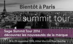 Sage Summit Tour 2016 : découvrez les nouveautés de la marque
