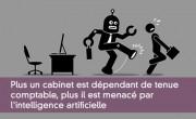 Plus un cabinet est dépendant de tenue  comptable, plus il est menacé par  l'intelligence artificielle