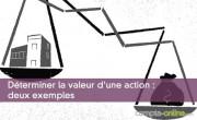 Déterminer la valeur d'une action : deux exemples