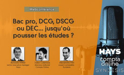 [Webconférence] Du Bac pro au DEC, que permettent les diplômes de la profession du chiffre ?