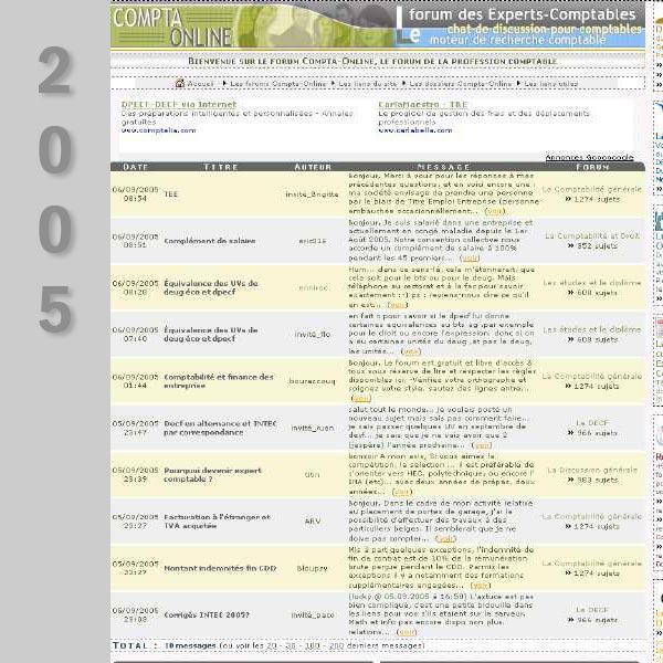 Compta Online en 2005