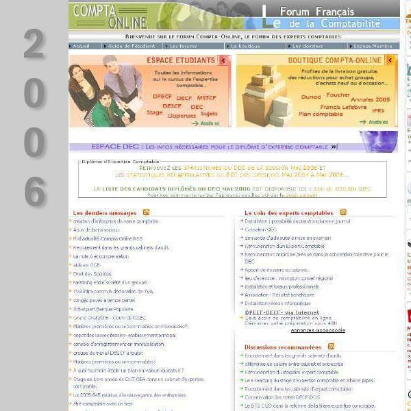 Compta Online en 2006