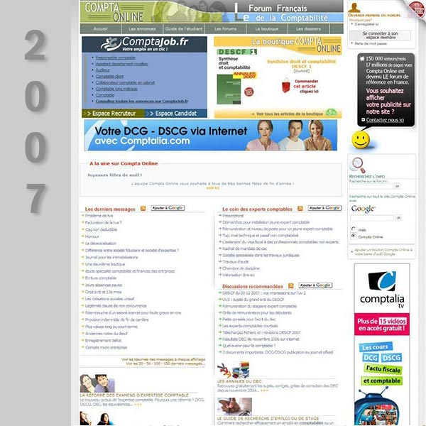 Compta Online en 2007