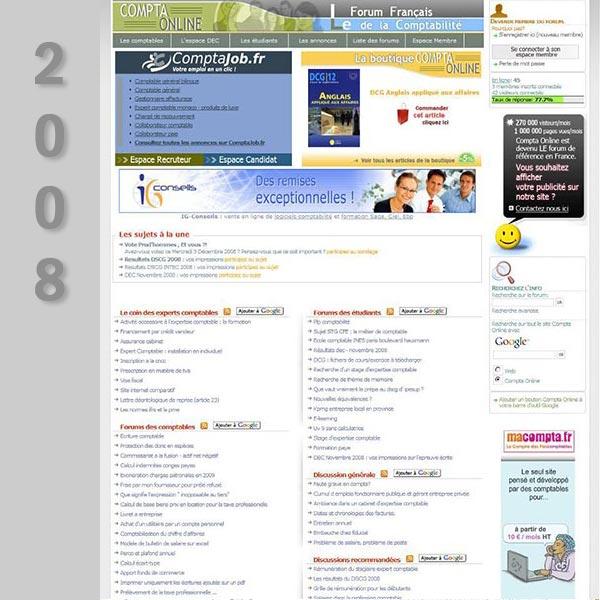 Compta Online en 2008