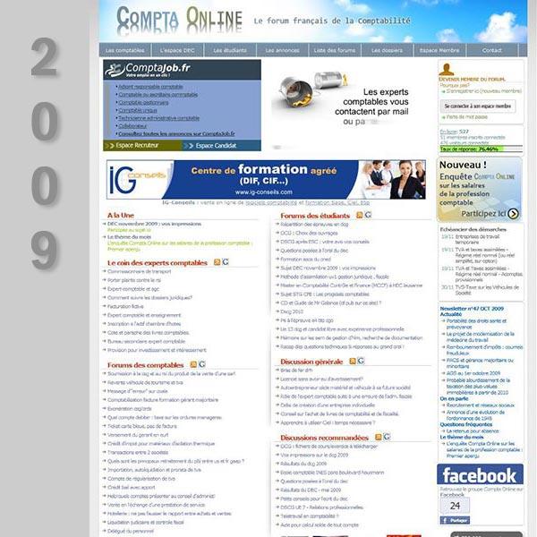 Compta Online en 2009