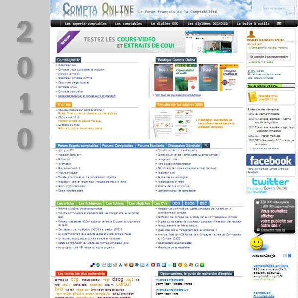 Compta Online en 2010