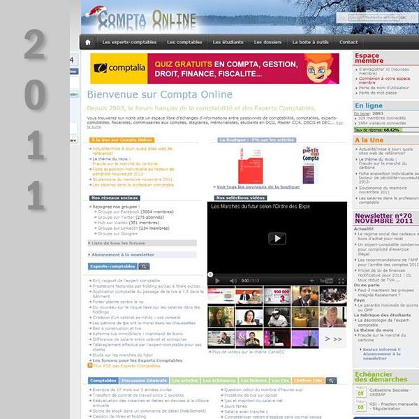 Compta Online en 2011