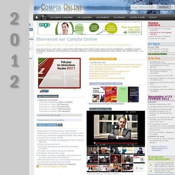 Compta Online en 2012