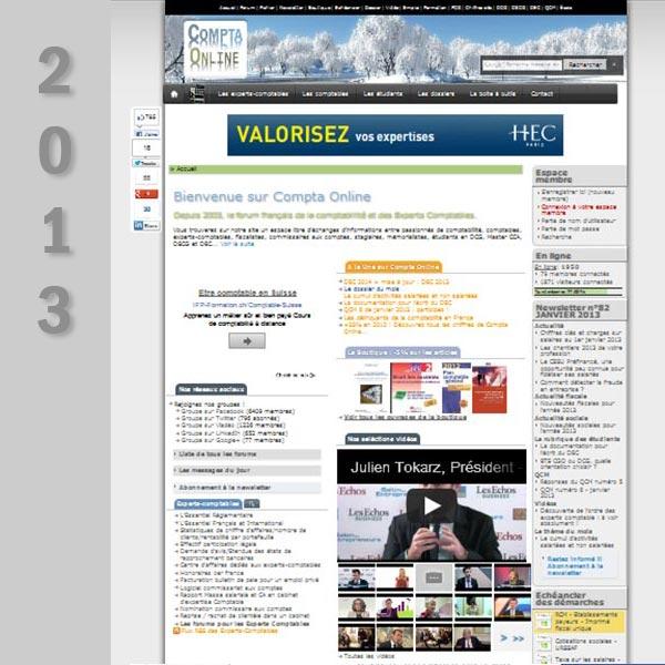 Compta Online en 2013