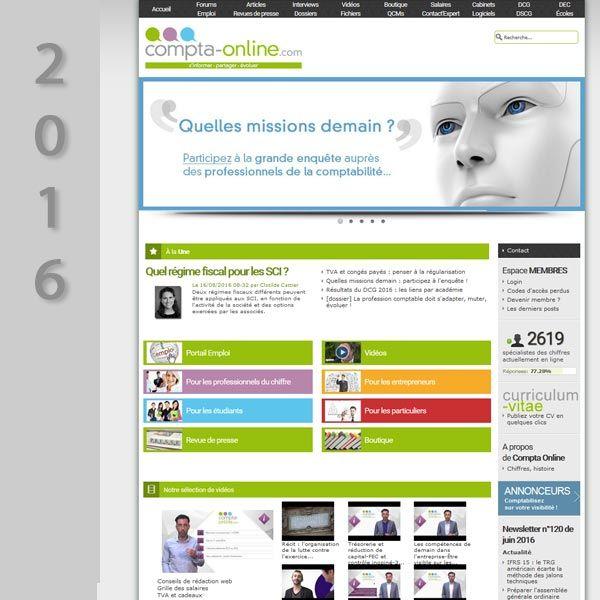 Compta Online en 2016