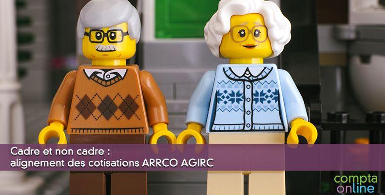 Cadre et non cadre : alignement des cotisations ARRCO AGIRC