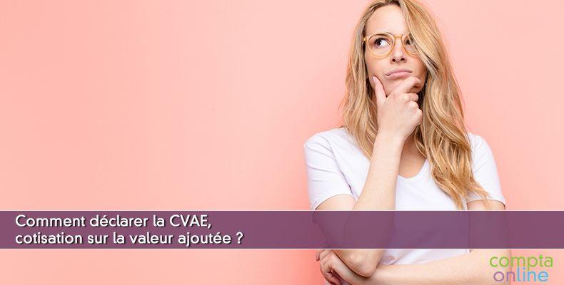 Déclaration de la CVAE