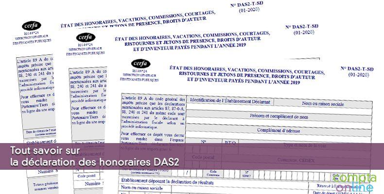 DAS2 Déclaration des honoraires